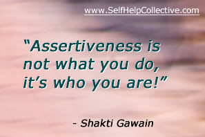 Developing assertiveness image - inspirational quote