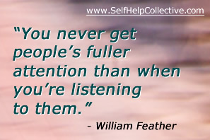 Listening skills image - inspirational quote