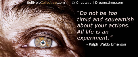 Personal growth tools image - old man's eye + inspirational quote