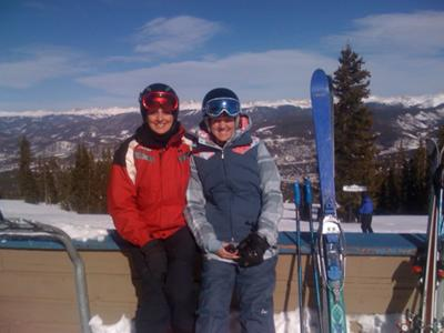 My mom and I in Breckenridge