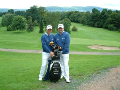 Me and my guide neil (right) at 08 World Blind Golf Championships