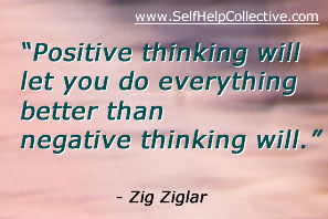 Developing positive attitude image - inspirational quote