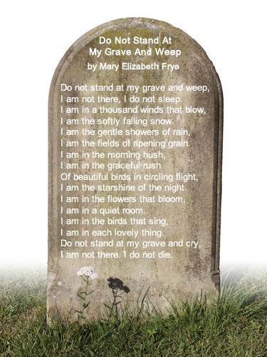 Mary Elizabeth Frye Poem Image