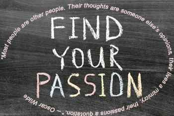 Finding your passion - quote from Oscar Wilde