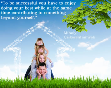 Home based business success - image of family