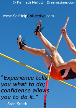 Inspirational sports quotes - image of high jumper