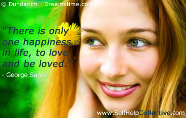 Love and happiness quotes image - beautiful smiling woman