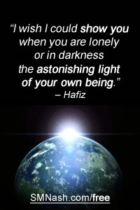 non low self esteem signs | quote by Hafiz about astonishing being...