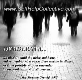 Desiderata poem by Max Ehrman