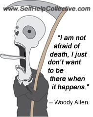 Funny Inspirational Quotes Image (Woody Allen Quotation)